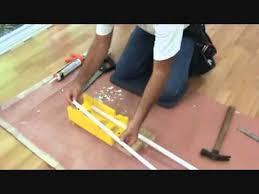 Cutting Quarter Round Trim For A Laminate Floor   YouTube