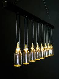 failed lamps of fancy chandelier milk bottles
