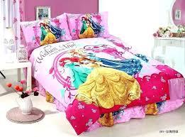 rapunzel bed set deep pink princess printed bedding sets single twin size bedclothes