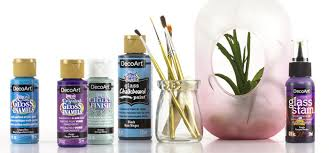 decoart offers many diffe glass paints stains and accessories for all of your glass and glazed ceramics crafting needs each product can be baked for