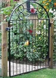 Small Picture Garden Gate Pretty Curved Wood Garden Gate Garden Gates Make A