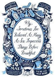 Alice In Wonderland Quote Mesmerizing Alice In Wonderland Famous Quotes Print By Lucy Loves This