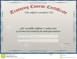 Free Training Certificates Training Certificate stock photo Image of paper blue 24 1