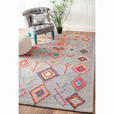 moroccan trellis rug new nuloom contemporary handmade wool viscose moroccan triangle grey