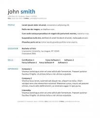 Resume Templates For Wordpad Inspiration Free Resume Templates Wordpad Template Simple Format Download In