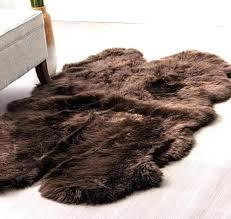 brown faux fur rug lovely brown sheepskin rug real sheepskin rug dark brown faux fur rug