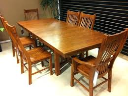 mission dining table mission style oak