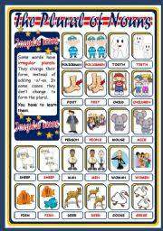 The Plural Of Nouns Irregular Poster Esl Worksheet By Xani
