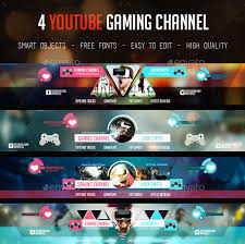 Youtube Template Psd 36 Premium Free Psd Youtube Channel Banners For The Best