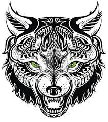 Plakát Totem Zvíře Wolf Tetování