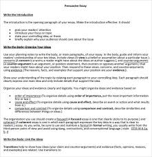 Argument And Persuasion Essay Examples Free 8 Counter Argument Samples In Pdf Word