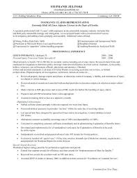 insurance agent resume sample claims adjuster resume sample with keyword  independent insurance agent resume sample . insurance agent resume sample  ...