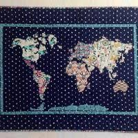 U.S. Map Quilt Tutorial | Map quilt, 50 states and Road trips & Our World Patchwork Map Applique Quilt Adamdwight.com