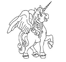 Disegno Di Unicorno Con Le Ali Da Colorare Acolorecom