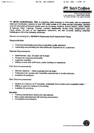 Job Description Of A Barista For Resume Resume barista resume experience wwwbaakleenlibrary 16