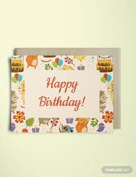 Happy Birthday Card Printable Template 40 Best Greeting Card Templates To Print Free Premium