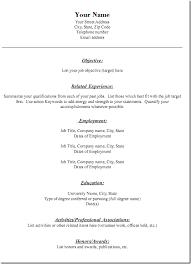 Generic Resume Template 20 Resume3