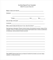 Medical Incident Report Template Patient Incident Report