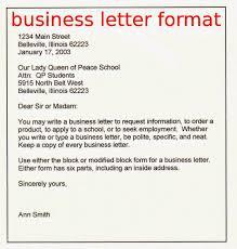 Simple Business Letter Format Sample Business Letter Format Green Brier Valley