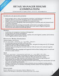 Summary For Resume Retail Good Qualification Summary For Resume Resume Sample