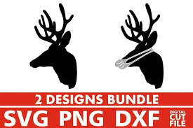 Almost files can be used for commercial. 2x Deer Head Bundle Svg Face Mask Svg Antlers Svg Hunt 884152 Cut Files Design Bundles