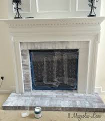 how to paint your brick fireplace surround 11 magnolia lane whitewashing brick fireplace surround home remodel interiors