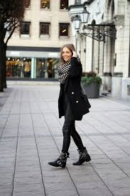 leather trousers with pea coat
