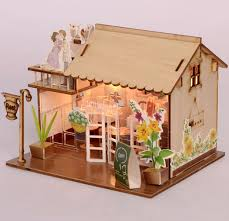 decorating furniture with paper. Baby Room Home Decoration Doll House Model Furniture DIY 3D Puzzle Kit Wooden Paper Toy Cute Decorating With F