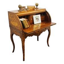 unusual dutch marquetry cylinder desk