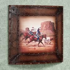 cowboy framed wall art