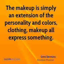 the makeup is simply an extension of the personality and colors clothing makeup all