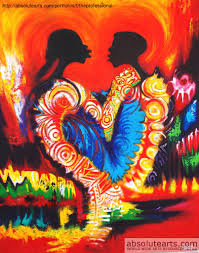 elae olumide artwork i love you original painting oil abstract art