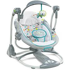 Amazon.com : Ingenuity Cozy Kingdom Portable Swing : Stationary Baby ...
