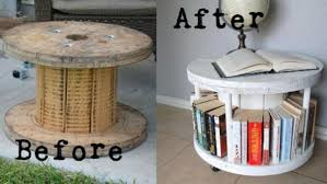 fabartdiy repurposed wire spool furniture ideas diy spool bookshelf