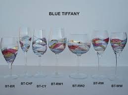 blue tiffany fine european handmade glassware hand blown romanian glassware canada