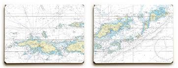 Vi Saint Thomas To Virgin Gorda Vi Diptych Nautical Chart
