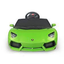 Amazon Com Lamborghini Aventador Kids 6v Electric Ride On Toy Car W Parent Remote Control Green Battery Powered Car Lamborghini Aventador Toy Cars For Kids
