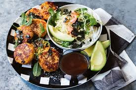 Sweet Potato Fish Cakes With Japanese Style Slaw Recipes