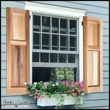 diy exterior shutters wood louvered plans