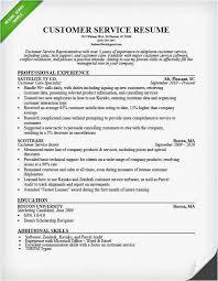 Resume For Customer Service Representative For Call Center 2018 Call