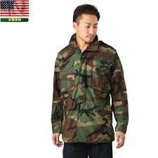 real surplus u s g i m 65 field jacket woodland woodland used men s military outer military jacket m65 m 65 field jacket camouflage camouflage usa