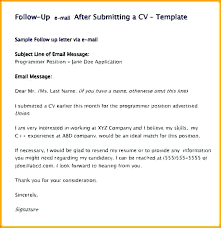 Follow Up Email After Sending Resume Resume Follow Up Email Sample Fascinating Follow Up Email After Submitting Resume