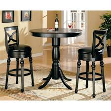 bar height table chairs great round bar height table black finish round top counter height 3