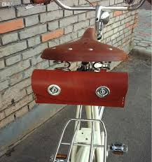 2019 whole 100 cowhide leather vintage bicycle saddle bag bike tail bag cycling tail seat bag handmake saddle tools leather packet brooks from pretty05