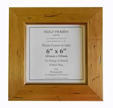 antique pine distressed wood square frame with glass