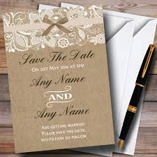 What Are Save The Date Cards Vintage Burlap Lace Personalised Wedding Save The Date Cards