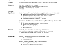 How To Write A Resume For Teaching Job Resume Template