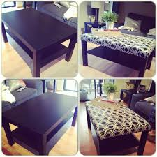 Led Coffee Table Diy Diy Ikea Coffee Table Turned Ottoman I Did It Myself