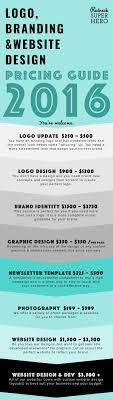 Graphic Design Price List 2016 Pricing Infographic Website Design Pricing Freelance