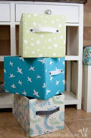create the perfect storage for any space with these easy diy fabric storage boxes customize